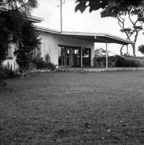 Garden view of Buckley House, Blantyre, 1968.