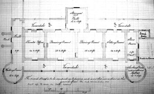 Ground floor plan of consulate, 1887.