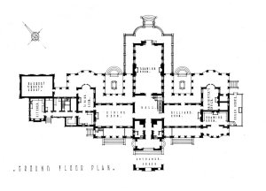 Residence ground floor plan, 1948.