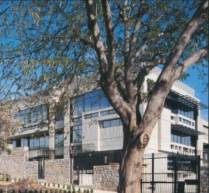 New immigration wing, from north-west, 1993.