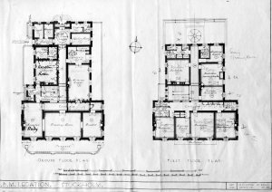 Ground and first floor plans, 1935.
