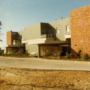 Staff house on compound, 1970s.