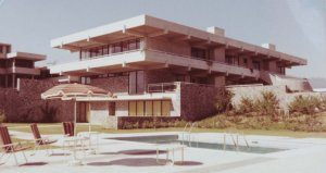 South end of residence, from pool area, 1976.