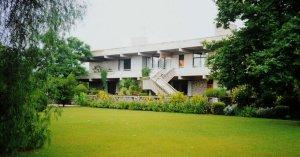 Residence from the garden, 1993.