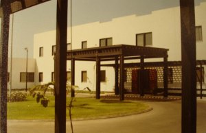 Consulate-general offices entrance in compound, c.1990.