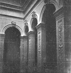 Hall columns, 1953.
