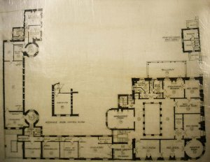 First floor plan, 1919.