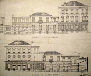 Elevation drawings of Fernando el Santo, 1919.