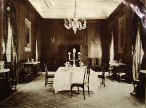 Dining room, c.1920.