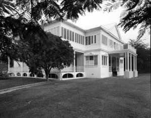 Main front , from the south, 1962.