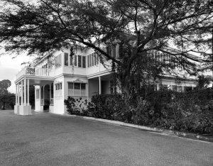 Approach and entrance, from the east, 1962.