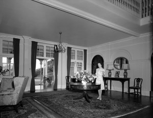 The hall, looking towards the entrance, 1962.