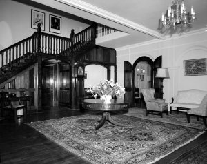 The hall, upon entering, 1962.