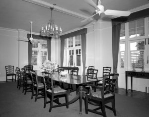 The dining room, 1962.