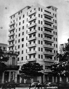 Bolivar residential block, where offices occupied top few floors, 1964.