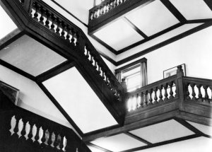 The main staircase, 1965.