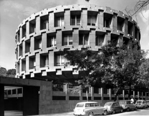 Completed drum of offices, 1966.