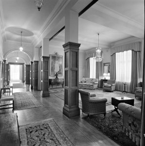 Reception room, formerly chancery office, 1967.