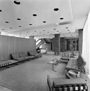 Offices entrance hall, 1967.