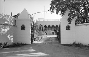 Residence entrance, 1967.