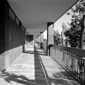 Access to staff flats, 1967.