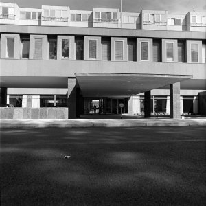 Entrance to offices, 1967.