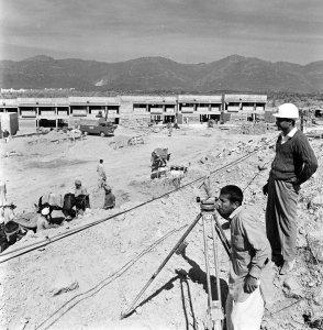 Housing under construction, 1973.