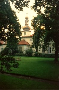Rear front, viewed from the garden, c.1990.
