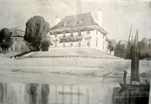 Presentation drawing by William Palmer-Jones, 1915.