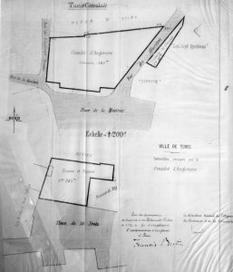 Siteplan, showing three consulate buildings, c.1910.
