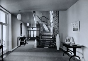 Hall and stair, 1959.