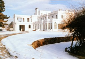 Entrance fron in winter, 1989.