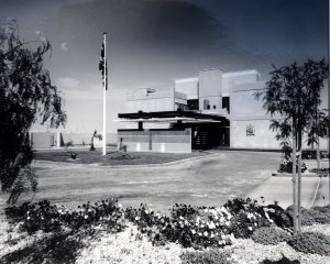 Entrance view of residence, 1985.