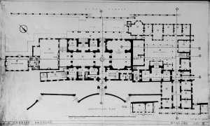 Ground floor plan of offices and residence), 1949.