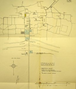 Sketch plan of Isfahan.