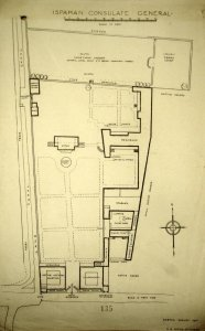 Survey drawing of compound, 1920.
