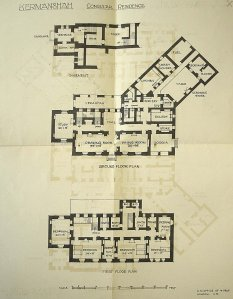 Plans for consular residence, c.1913.