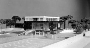 Later sketch model for proposed residence, 1960.