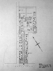 Site plan, c. 1960.