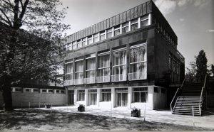 Residence from garden, 1964.