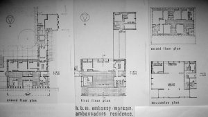 Residence floor plans, c. 1970.