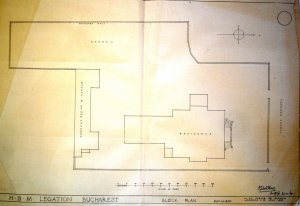 Siteplan of legation house, 1928.