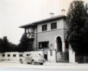 Entrance front of residence, 1958.