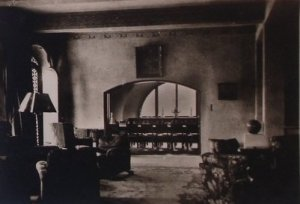 Drawing room, looking towards dining room, 1947.