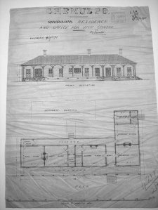 Marshall's approved drawing for consular building, 1895.