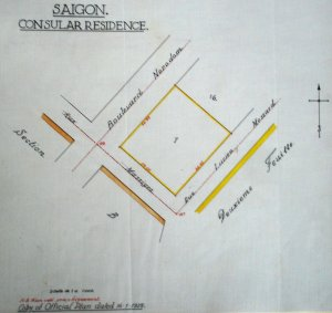 Location plan of land for consular residence, 1928.