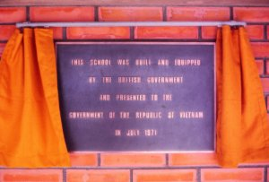The plaque.