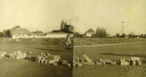 The site for new offices at Thamrin Circle, 1953.
