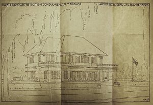 Architect Blankenberg's residence proposal, 1931.