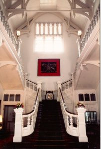 Main hall and stair, 1980s.